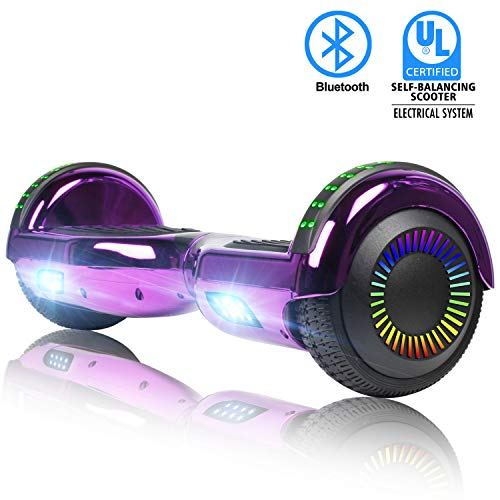 SWEETBUY Hoverboard for Kids, Two-Wheel Self Balancing Hoverboard Electric Scooter UL 2272 Certified 6.5 inch Self Balancing Scooter with Carry Bag