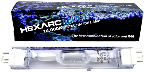 Phoenix Electric Company Metal Halide HQI 14000K DE Bulb for Aquarium, 250-watt (Metal Hqi Ended Double)
