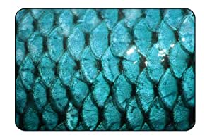 "Insomniac Arts - Fish Scales, Animal Print - Tempered Glass Bar & Kitchen Cutting Board (Large 11""x16"")"