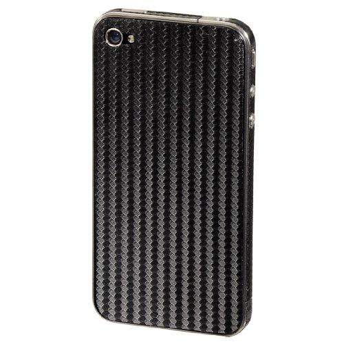 Hama Carbon Backcover-Folie für Apple iPhone 4S schwarz
