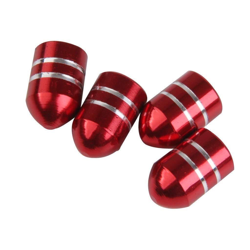 Accesorios para Coche Rojo Tapas de v/álvula de neum/ático de Coche Naisidier Tapones de v/álvula de neum/ático moleteados anodizados de aleaci/ón de Aluminio para Coche 4 Piezas
