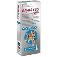 BRAVECTO B0216 PLUS for Cats 2.8 to 6.25 BLUE Pack 1 Pipette, Medium