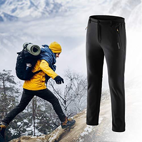 Alpinisme Hiver Ultra Tofern Coupe Anticoupe Pantalon Camping Homme Foncé Vert Softshell Respirant Elastique Ski vent Trekking Thermique Randonnée Velours Ykk Légèreté Zip gnUUZqwrx