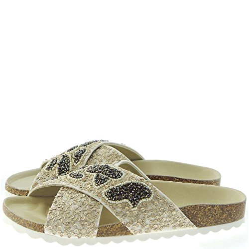 Sandali Beige Sandals Twin 6301n set Ciabatta Donna Women PwHqtOpq