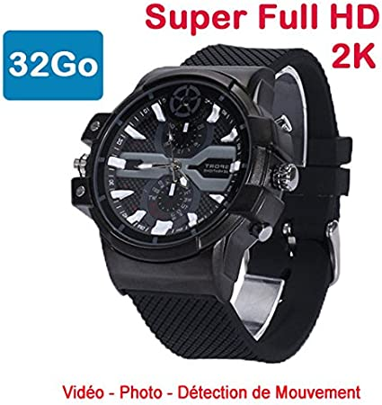 Cyber Express Electronics–Reloj Mini cámara espía 32GB 2K Super Full HD 2304x 1296P detección de Movimiento cel-dwf-74–32