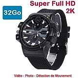Cyber Express Electronics–Orologio Mini videocamera spia 32GB 2K SUPER Full HD 2304x 1296P rilevamento di movimento cel-dwf-74–32