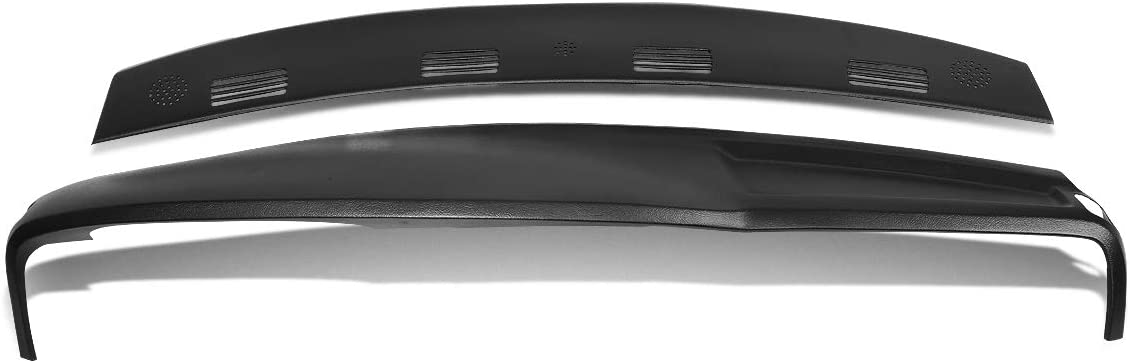 DNA MOTORING ZTL-Y-0128 Front Upper Defrost Vent Grille Cap + Dashboard Cover Overlay (2pcs)