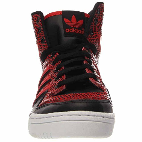 adidas Metro Attitude - Blau/Orange-WeiÃ?e, 7.5 D US Black / Red-White