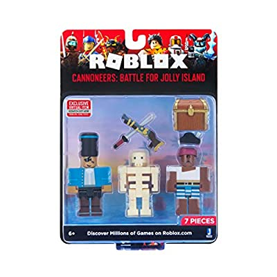 Roblox Action Collection - Cannoneers: Battle for Jolly Island Game Pack [Includes Exclusive Virtual Item]: Toys & Games