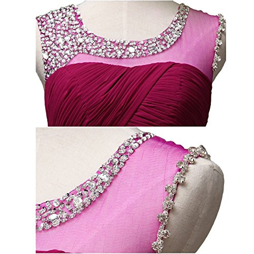 Rot Kleid Drasawee Burgunderrot Empire Damen qtaZ1a