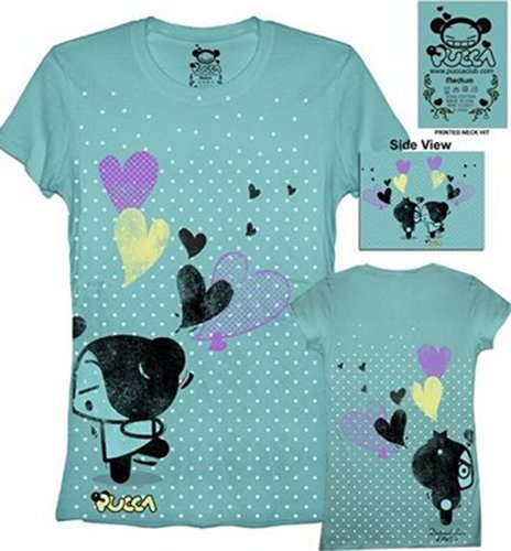 "Pucca ""Love Is..."" Sea Blue Junior T-Shirt (M)"