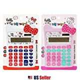 Sanrio Hello Kitty 12 Digits Solar Powered Calculator - Ribbon (2 Designs) (White)