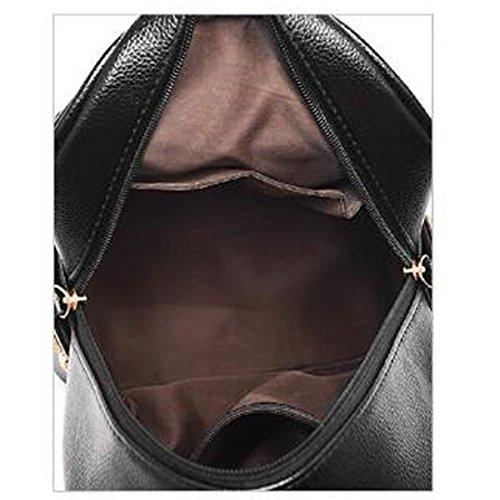 Zaino Casual Ragazza Mini Moda Black Borsa Donna Fresca Ricamo PU0wqf