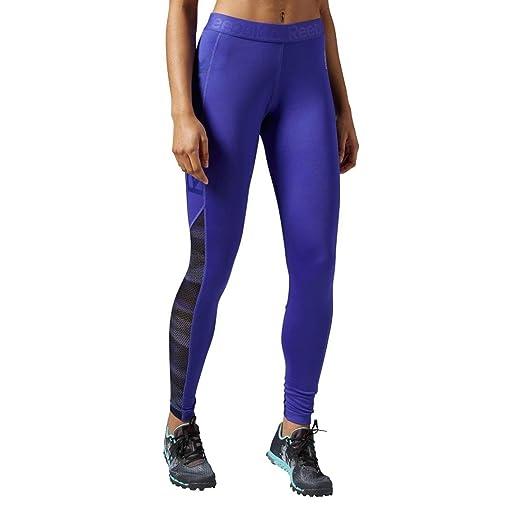 2017bdeeb4803 Amazon.com: Reebok Women's Workout Ready Logo Tights: Clothing