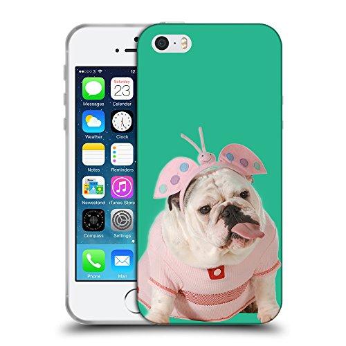 GoGoMobile Coque de Protection TPU Silicone Case pour // Q05800626 Bulldog anglais Caraibi verde // Apple iPhone 5 5S 5G SE