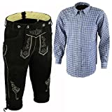 Trends Oktobesfest Bavarian Leather Shorts Lederhosen and Shirts Set (40)
