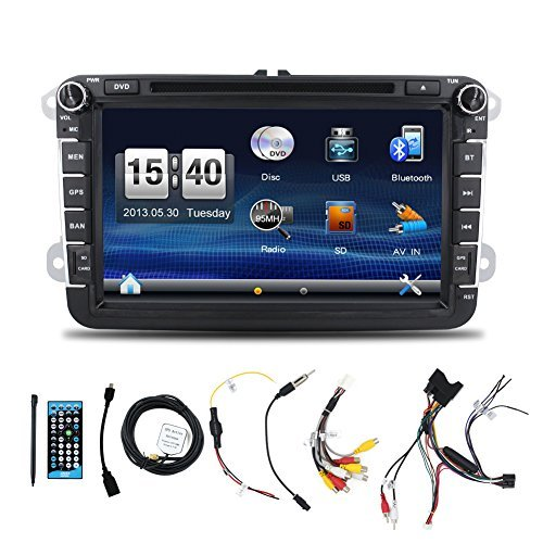 Free Rearview Camera+Canbus+8' 2 Din Touch Screen Car DVD Player for VW Volkswagen Jetta Golf 5 6 Skoda Passat Caddy T5...