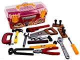 kids toolbox set - WolVol 26-piece Tool Box Set with Removable Tool Tray - Great Gift Toy for Boys