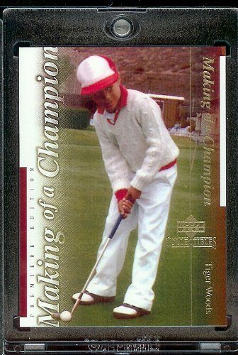 2001 Upper Deck #TWC3 Tiger Woods Golf Card- Mint Condition - Shipped In Protective Screwdown Case
