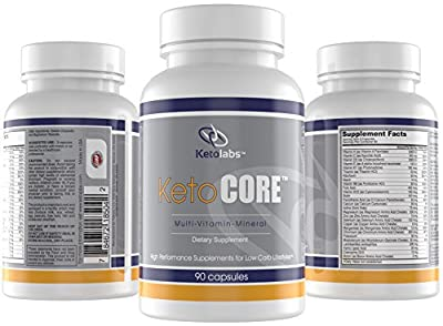 Ketolabs Keto Core Daily Multivitamin with Minerals and Probiotics - Supplement for Low Carb, Atkins, Paleo, Ketogenic (Keto) and Other Weight-Loss Diets - 90 Capsules - 100% Money Back Guarantee.