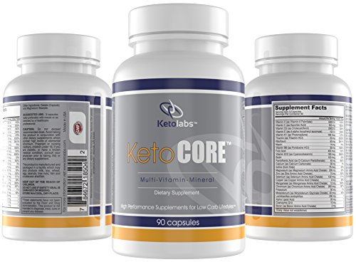 Ketolabs Keto Core Daily Multivitamin with Minerals and Probiotics – Supplement for Low Carb, Atkins, Paleo, Ketogenic (Keto) and Other Weight-Loss Diets – 90 Capsules – 100% Money Back Guarantee.