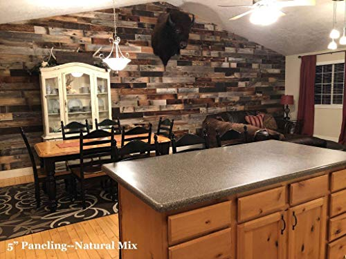 Box of 20 sq ft. FREE Shipping Reclaimed Barn Wood Wall Paneling DIY asst 3-inch boards. Interior Real Barnwood Decorative Planks Panels, Rustic Farmhouse Bathoom, Kitchen Decor-choice of colors.