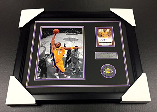 KOBE BRYANT LOS ANGELES LAKERS SIGNED Autographed Card 8x10 PHOTO FRAMED