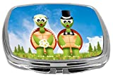 Rikki Knight Turtles in Love Illustration Design Compact Mirror, 17 Ounce