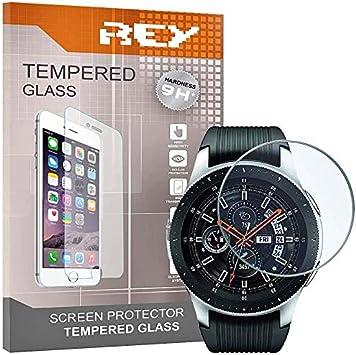 3X Protector de Pantalla para Samsung Galaxy Watch 46mm 2018, Cristal Vidrio Templado Premium: Amazon.es: Electrónica