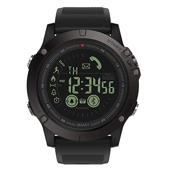 Smart Sport Watch,Smartwatch Waterproof for Men with Pedometer,Sports Watch with APP Control on iOS and Android Mobile Phone