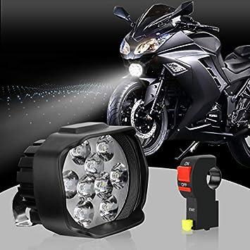 12V 21 LED Spot Light Motorcycle Scooter ATV Off Road Waterproof LED Head light