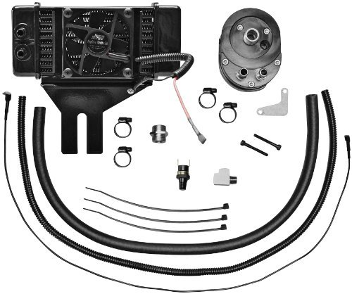 Jagg Oil Cooler Adapters - Jagg Oil Coolers Horizontal Low-Mount 10 Row Fan-Assisted Oil Cooler Kit - Black 751-FP2500