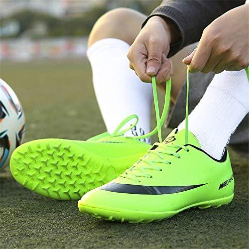 屋内外の男性の着用ノンスリップ通気性の草の壊れた釘サッカーシューズトレーニングシューズ