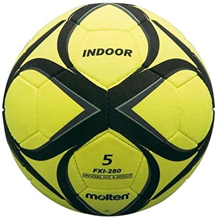 Molten - Balón de fútbol indoor, color amarillo/negro/gris, talla ...