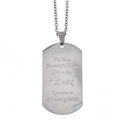 amazon com qlychee to my son pendant necklace stainless steel