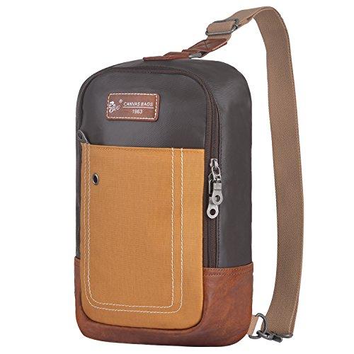 Sling Backpack Anti-Theft Canvas Bag One Strap Crossbody Shoulder Travel Sport Hiking Daypacks for Men Women Waterproof