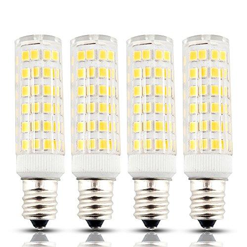 Bonlux 6W Dimmable E12 Candelabra LED Bulbs, 45W Equivalent 2800k Warm White T3/T4 Candelabra E12 Base, Omni-directional E12 Replacement Bulb for Ceiling Fan Chandelier Landscape Lighting (Pack of 4)