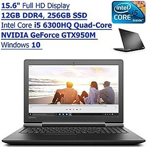 lenovo ideapad 15 6 inch full hd gaming laptop pc intel core i5 6300hq quad core. Black Bedroom Furniture Sets. Home Design Ideas