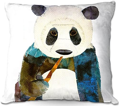 Decorative Woven Couch Throw Pillow from DiaNoche Designs by Marley Ungaro Unique Bedroom, Living Room and Bathroom Ideas Panda