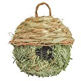 Gardirect Natural Birdhouse, Wild Bird Nest, Reed Weave Natural Roosting Pocket