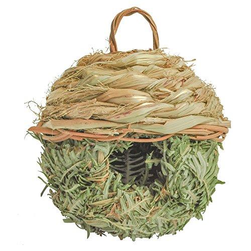 Gardirect Natural Birdhouse, Wild Bird Nest, Reed Weave Natural Roosting Pocket by Gardirect