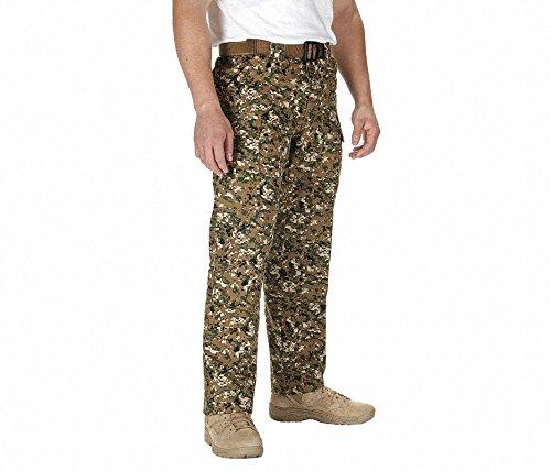 Mens Woodland Camo Army Pants - 5.11 Tactical #74003 Men's Ripstop TDU Pants,Smal Long,Woodland Camo