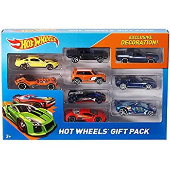 hot wheels exclusive decoration gift pack 9 piece