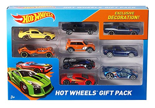 Hot Wheels Exclusive Decoration Gift Pack, 9-Piece (Toys Car)