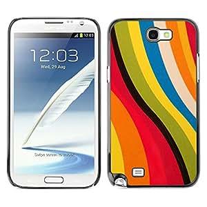 [Neutron-Star] Snap-on Series Teléfono Carcasa Funda Case Caso para Samsung Note 2 N7100 [Patrón ondulado Summer Sun colorido]