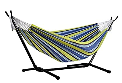 Afranker Double Hammock with Space-Saving Steel Stand