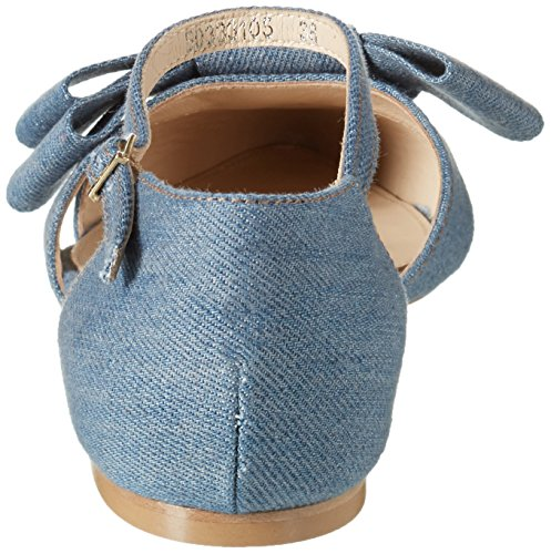 Hugo Bow Ballerina-d 10197218 01, Sandalias con Cuña para Mujer Azul (Open Blue 470)