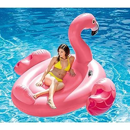 Badeinsel ''Mega Flamingo Island'' mit 2 Haltegriffe, 218x211x136cm 5