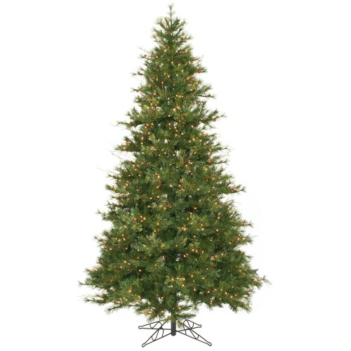 - Vickerman 9' Slim Mixed Country Pine Artificial Christmas Tree with 950 Clear lights