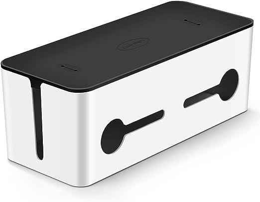 UGREEN Caja Organizadora Cables, Caja para Almacenaje de Cables Eléctricos, Alargadores, Cargadores, Regletas y Otros Accesorios (425x175x155mm de Gran Tamaño): Amazon.es: Hogar